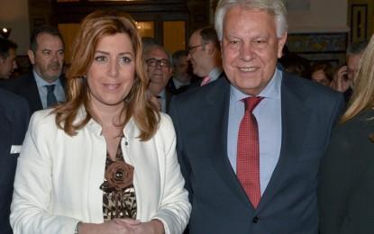 Díaz preside la entrega del IV Premio Manuel Clavero al expresidente del Gobierno Felipe González
