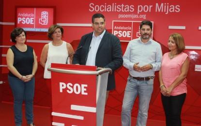 """Los socialistas critican la gestión de Ciudadanos y PP calificándola como """"100 días de desgobierno y despropósitos en Mijas"""""""