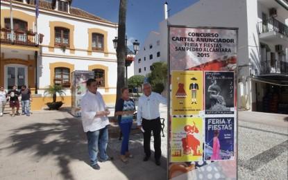 Inaugurada la exposición de trabajos presentados al Concurso del Cartel Anunciador de la Feria y Fiestas de San Pedro Alcántara 2015