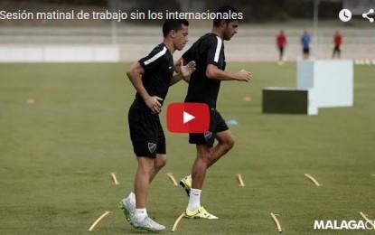 Sesión matinal de trabajo sin los internacionales en el Málaga CF