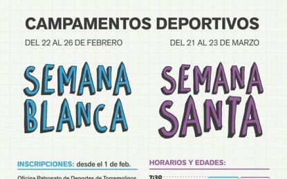 Abierto el plazo de inscripciones para los campamentos deportivos de Semana Blanca y Semana Santa de Torremolinos