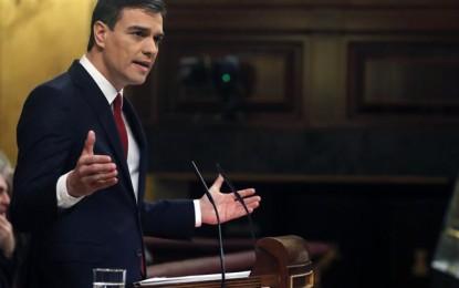 El lider socialista Pedro Sánchez ha fracasado en la primera votación de investidura