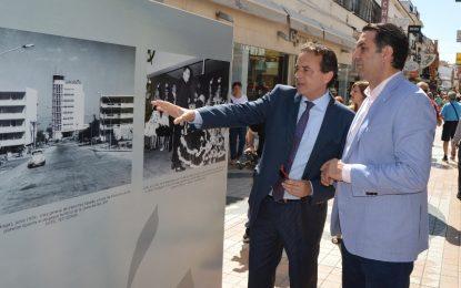 Francisco Javier Fernández inaugura junto al alcalde de Torremolinos, José Ortiz, una muestra con 50 imágenes que recogen la historia turística de la comunidad