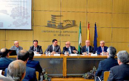 El consejero ofrece el apoyo de la Junta al proyecto y destaca que esta alianza de Sevilla, Málaga, Córdoba, Granada es un producto insuperable