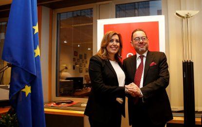 Susana Díaz pide en Bruselas la puesta en marcha de los proyectos presentados por Andalucía al Plan Juncker