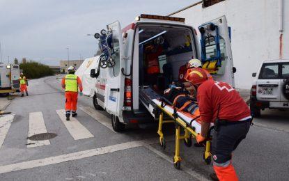 Un total de 160 efectivos participan en un simulacro de emergencia por accidentes con sustancias peligrosas en Málaga