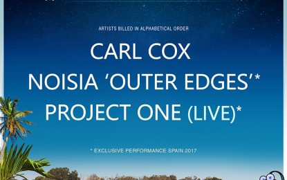 "Carl Cox, Noisia ""Outer Edges"" y Project One (live) endulzan la Navidad a los 'dreamers' sumándose al cartel de Dreambeach"