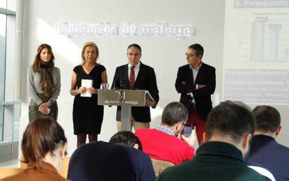 El presupuesto de la Diputación de Málaga en 2017 incrementará las inversiones y la apuesta por el empleo