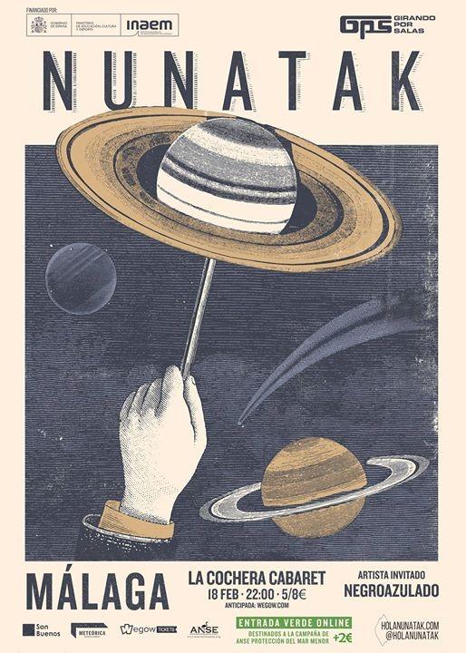 Nunatak llega a Málaga para presentar su último trabajo 'Nunatak y el Pulso Infinito' en Cochera Cabaret