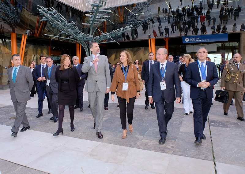 El Rey Felipe VI ha inaugurado hoy en Málaga Transfiere, Foro Europeo para la Ciencia, Tecnología e Innovación