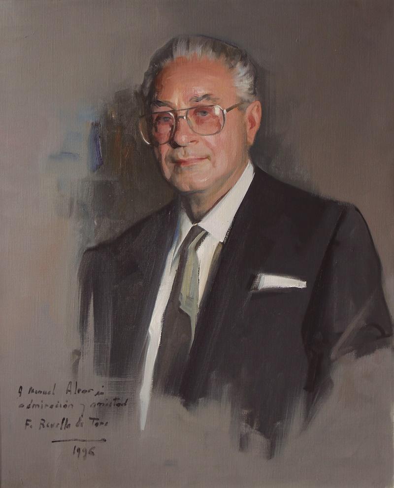 El retrato de Alvar, fechada en 1996, ha quedado expuesto en la sala 2 del museo Revello de Toro de Málaga