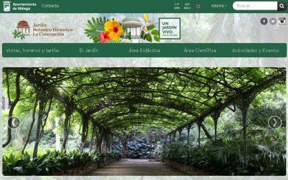 El Jardín Botánico-Histórico La Concepción de Málaga renueva su pagina web