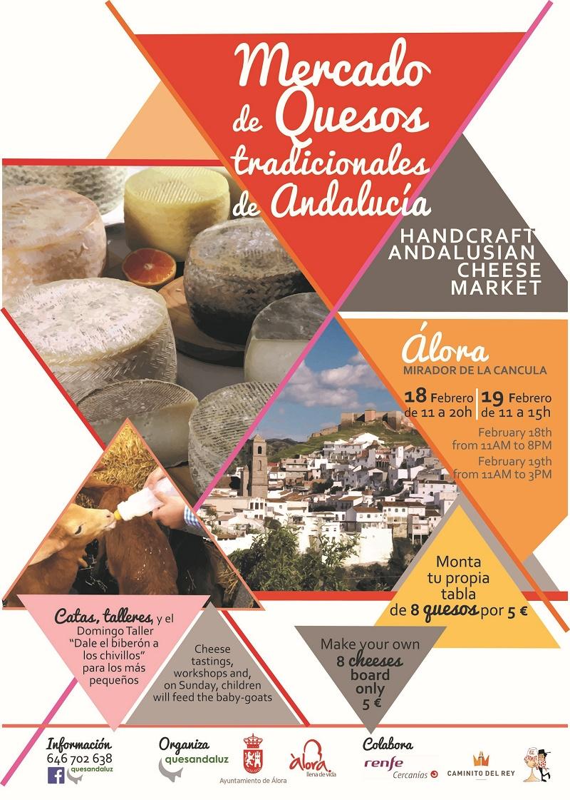 Mercado de #Quesos en Álora este fin de semana18 y 19 de febrero