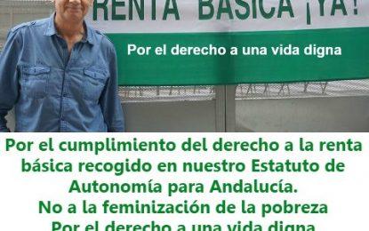 Paco Vega, un activista malagueño que cumple ya 20 días en huelga de hambre reclamando a la Junta a que aplique una renta básica
