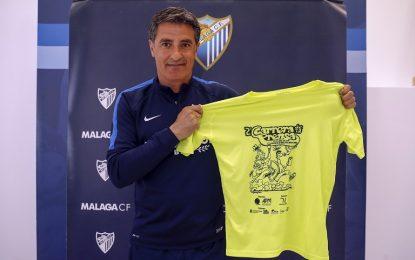 El entrenador del Málaga se suma a los rostros conocidos que respaldan la II Carrera de la Prensa reivindicativa y solidaria del próximo 30 de abril