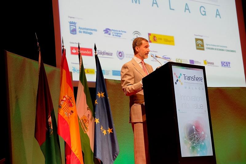 El Rey Felipe VI será presidente de honor del comité organizador de la séptima edición de Transfiere en Málaga